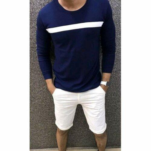 Trendy Elegant Men's Tshirt (Navy Blue)