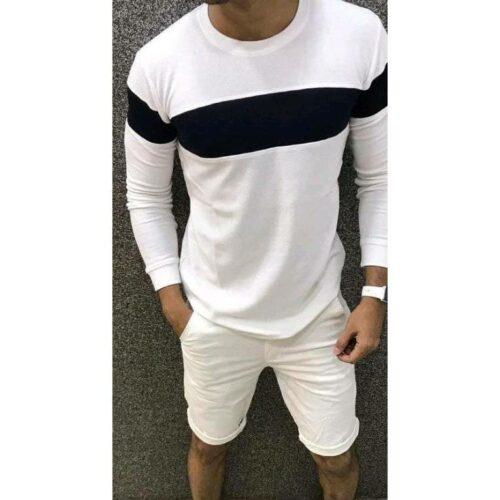 Trendy Elegant Men's Tshirt (White)