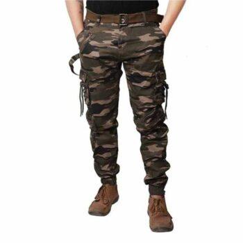 Men Camouflage Print Cotton Cargo Pants