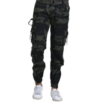 Men Camouflage Printed Mid-Rise Cargo