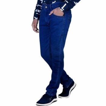 Men Regular Fit Denim Jeans (Navy Blue)