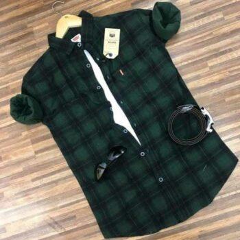 Casual Checkered Cotton Men's Shirt
