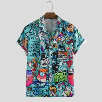 Imported Stretchable Lycra Printed Shirt