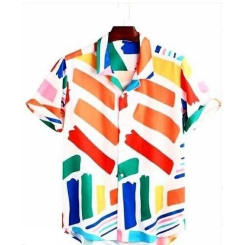 Imported Stretchable Lycra Printed Men's Shirt