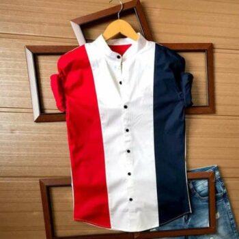 Men Block Printed Cotton Shirt