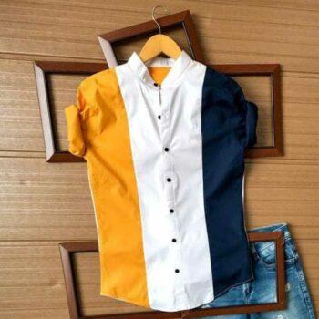 Men's Block Printed Cotton Shirt