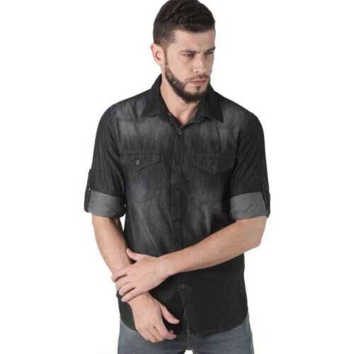Men's Denim Black Dyed Shirt
