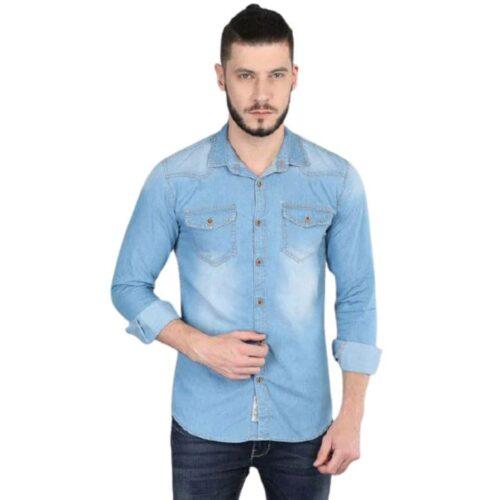 Men's Denim Carbonn Blue Dyed Shirt