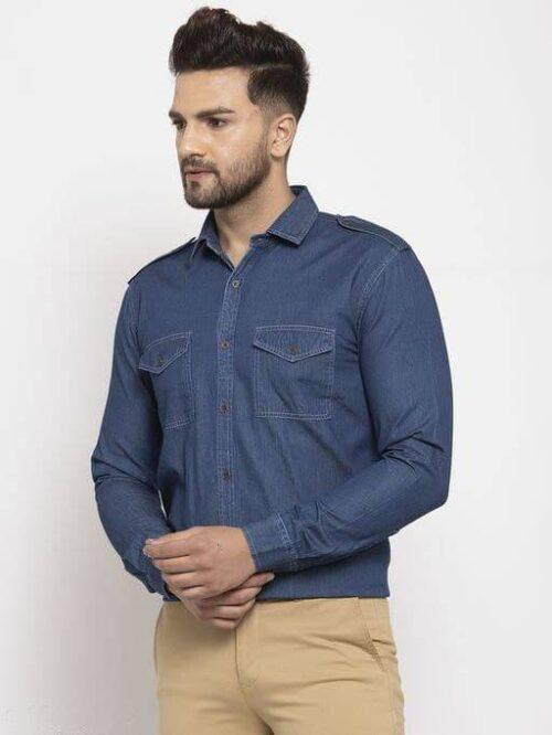 Men's Denim Navy Shirt