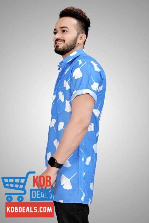 Men's Fabulous Blue Printed Shirt