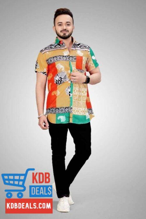 Multicolor Men's Printed Shirt