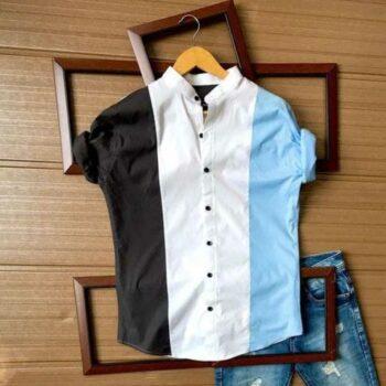 Men Block Printed Cotton Shirts