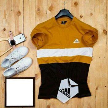 Adidas Men's Tshirt Black Yellow