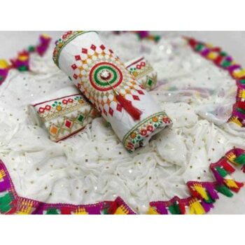 Ethnic Motif Embroidered Cotton Suits & Dress Materials