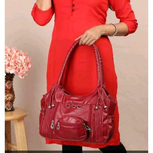 Eva Elegant Fancy Pu Leather Handbags