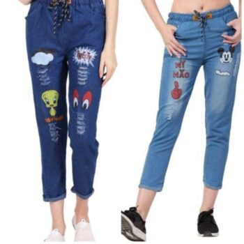 Fashionable Denim Women Jeans Pack of 2