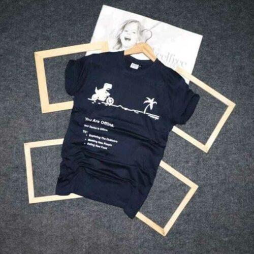 FeelFree Men's Tshirt We Are Offline Tshirt Navy