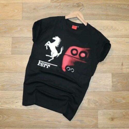 Ferrari Horse Mens Tshirt Black