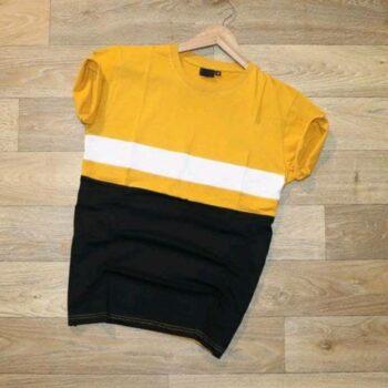 Ferrari Men's Stylish Tshirt Black Yellow