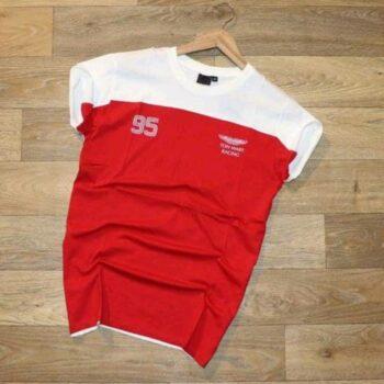 Ferrari Red White Men's Tshirt