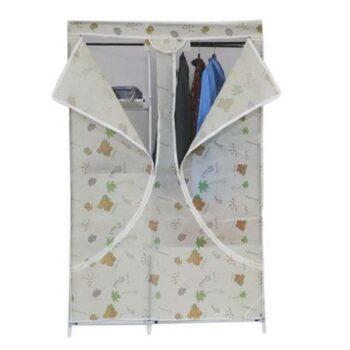 Foldable Wardrobe with 6 Racks, Standard Size (Beige)