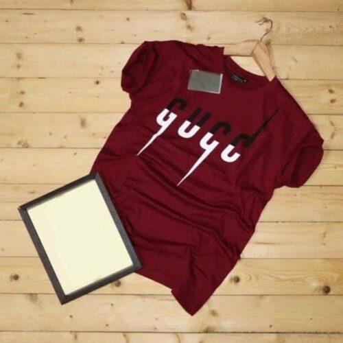 Gucci Men's Tshirt Gucci Tshirt Maroon