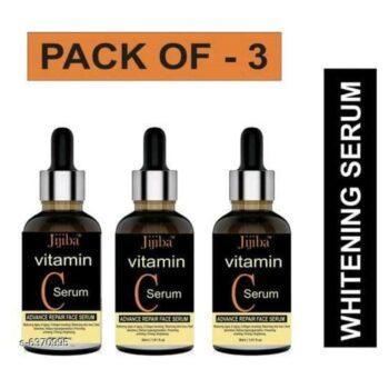 JIJIBA Vitamin C Face Serum For Skin Brightening, Skin Toning & Anti Ageing for Men and Women (Pack of 3)