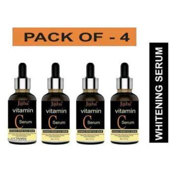 JIJIBA Vitamin C Face Serum For Skin Brightening, Skin Toning & Anti Ageing for Men and Women (Pack of 4)
