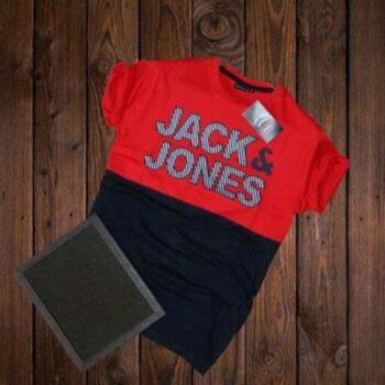 Jack and Jones Men's Cotton T-shirt Red