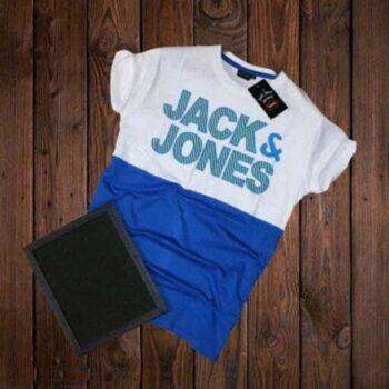 Jack and Jones Men's Cotton T-shirt White Blue