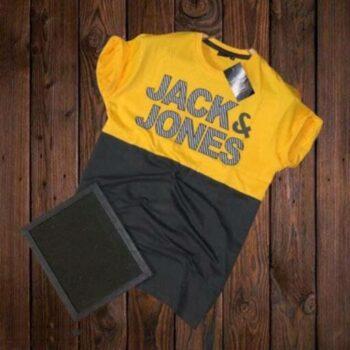 Jack and Jones Men's Cotton T-shirt Yellow