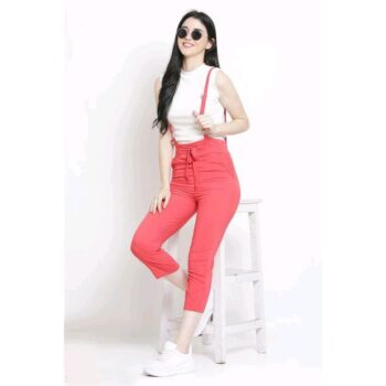 Latest Fashion Red Dungaree for Comfortable Wear