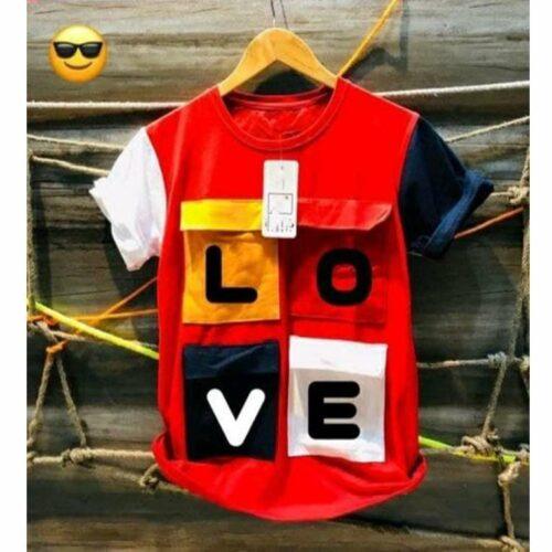 Love Tshirt for Men Red