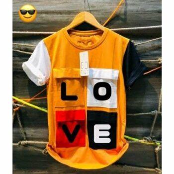 Love Tshirt for Men Yellow