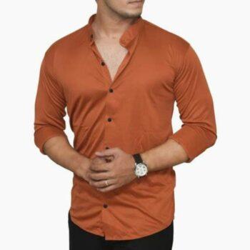 Lycra Shirt For Men - Brown