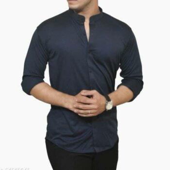 Lycra Shirt For Men - Navy Blue