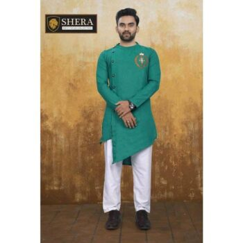 Men's Cotton Kurta Pajama Set Green