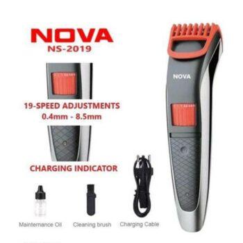 Nova NS-2019 Hair and Beard USB Cordless Rechargeable Trimmer for Men Shaving