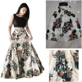 Partywear Bangalori Satin Silk Women Lehenga