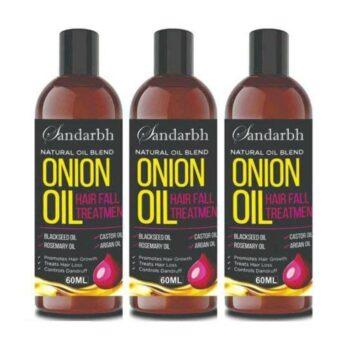 Sandarbh Onion Oil for Hair Regrowth & Hair Fall Control Hair Oil (Pack of 3)