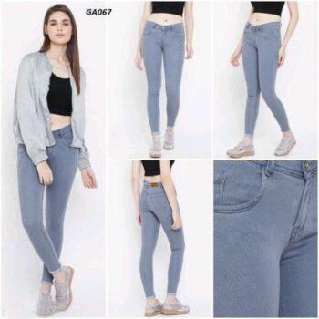 Sky Blue Denim Skinny Fit Jeans For Women