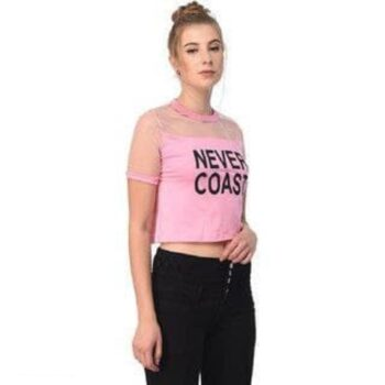 Solid Baby Pink Never Coast Tank Top