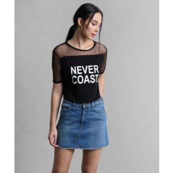 Solid Black Never Coast Tank Top