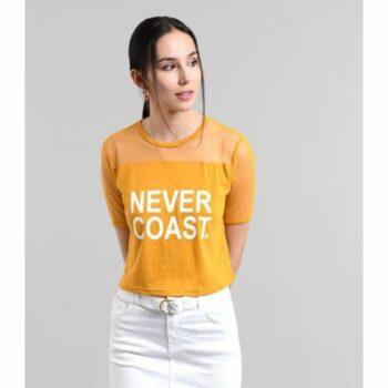 Solid Orange Never Coast Tank Top