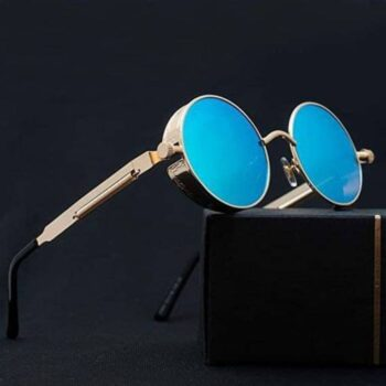Steampunk Sunglasses for Men and Women Blue