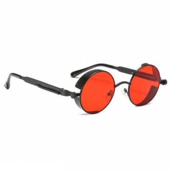 Steampunk Sunglasses for Men and Women Red