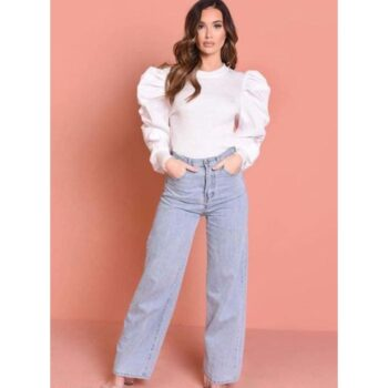 Stylish Balloon, Puff Sleeve Top For Women And Girls