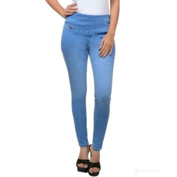 Stylish Solid Denim Jeans for Women Blue
