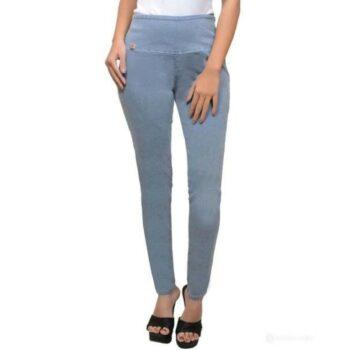 Stylish Solid Denim Jeans for Women Grey