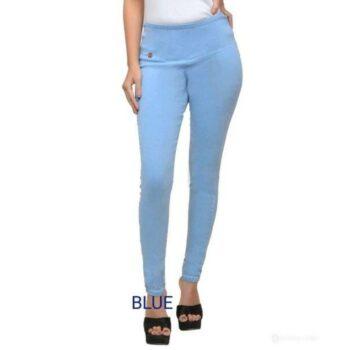 Stylish Solid Denim Jeans for Women Sky Blue